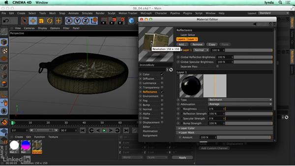 Shiny surfaces (reflection): CINEMA 4D R17 Essential Training