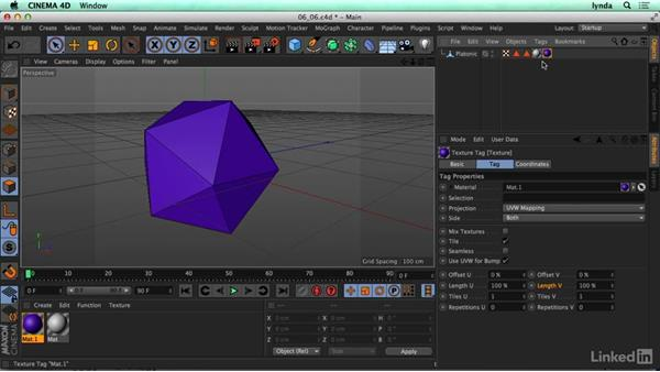 Creating and using selection tags: CINEMA 4D R17 Essential Training