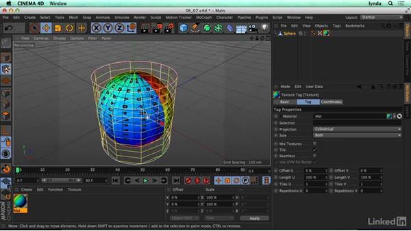 Projections vs. UVs: CINEMA 4D R17 Essential Training