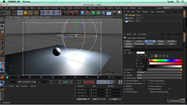 Why falloff is important and how to set it up: CINEMA 4D R17 Essential Training