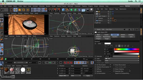 Creating a three-point lighting setup: CINEMA 4D R17 Essential Training