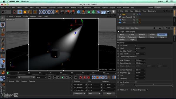 Volumetric lighting: CINEMA 4D R17 Essential Training
