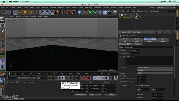 Setting up dynamics: CINEMA 4D R17 Essential Training