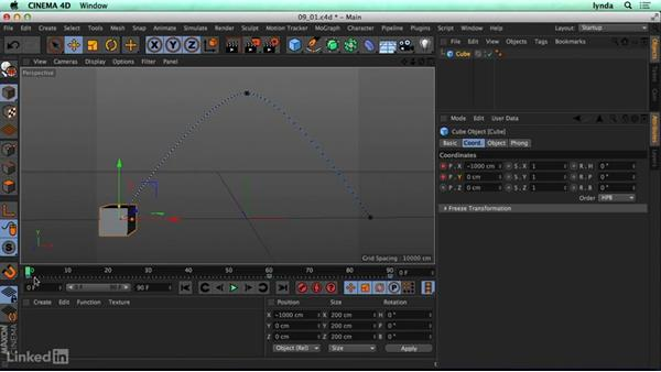 What are keyframes and how do you create them?: CINEMA 4D R17 Essential Training