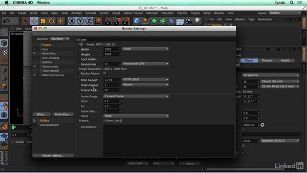 Common render settings: CINEMA 4D R17 Essential Training