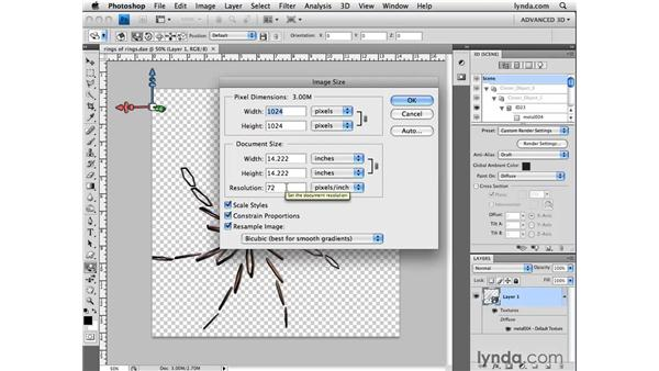 Importing 3D files: Photoshop CS4 Extended for 3D