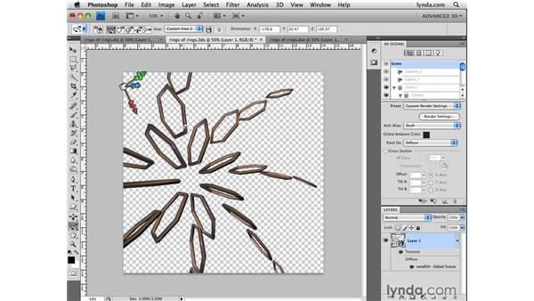 Adding 3D files to existing documents: Photoshop CS4 Extended for 3D
