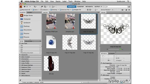 Reloading altered 3D files: Photoshop CS4 Extended for 3D