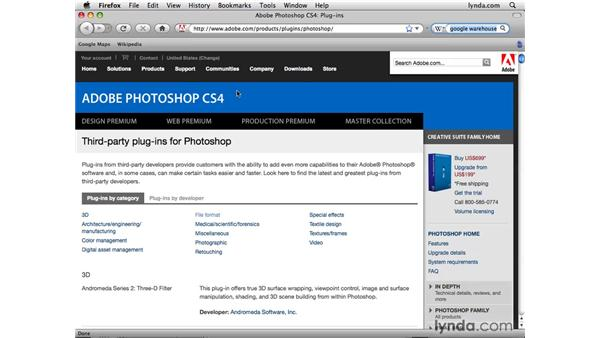 Browsing online 3D content: Photoshop CS4 Extended for 3D