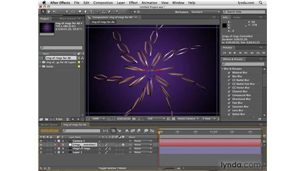Using 3D PSD files in After Effects: Photoshop CS4 Extended for 3D