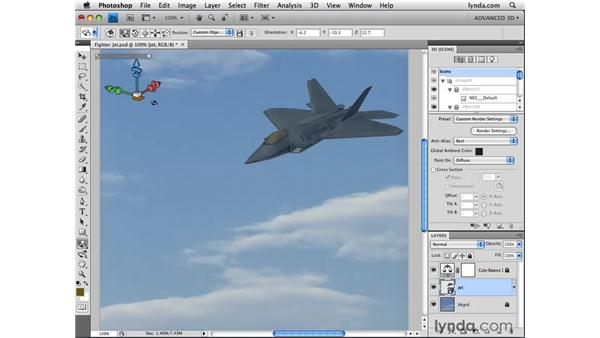 Customizing the 3D tool: Photoshop CS4 Extended for 3D