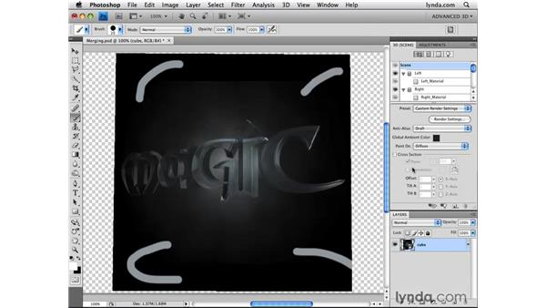 Merging textures onto 3D objects: Photoshop CS4 Extended for 3D