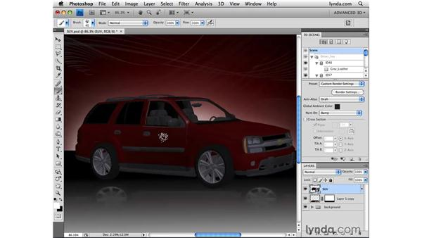 Painting bump maps: Photoshop CS4 Extended for 3D