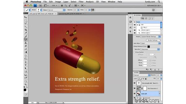 Painting glossiness: Photoshop CS4 Extended for 3D