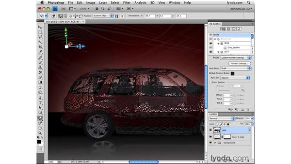 Painting opacity: Photoshop CS4 Extended for 3D
