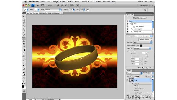 Painting shininess: Photoshop CS4 Extended for 3D