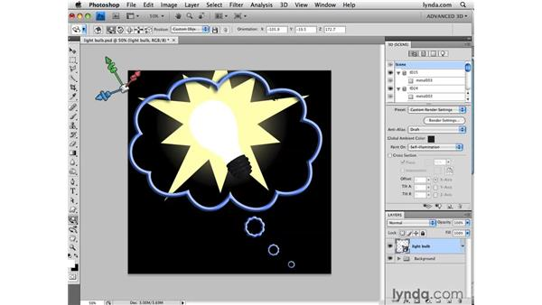 Painting self-illumination: Photoshop CS4 Extended for 3D