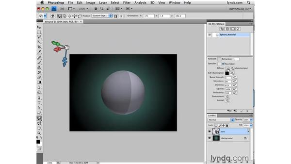Painting a spherical depth map: Photoshop CS4 Extended for 3D