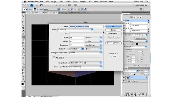 Importing maps for materials: Photoshop CS4 Extended for 3D