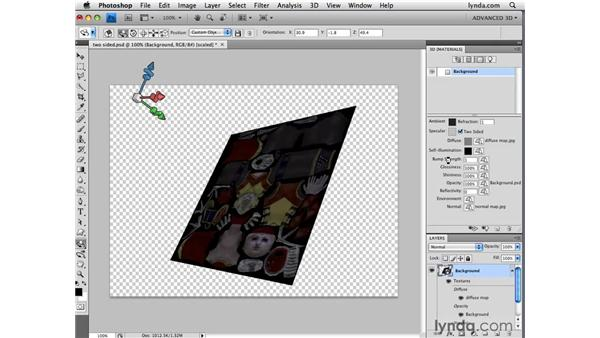 Adding refraction: Photoshop CS4 Extended for 3D