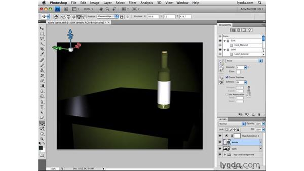 Creating point lights: Photoshop CS4 Extended for 3D
