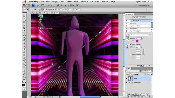 Using light guides: Photoshop CS4 Extended for 3D