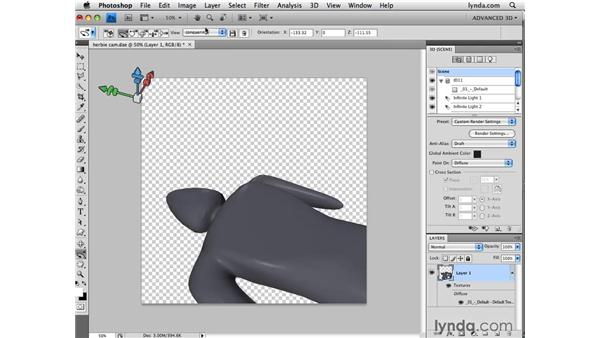 Using the 3D camera tools: Photoshop CS4 Extended for 3D