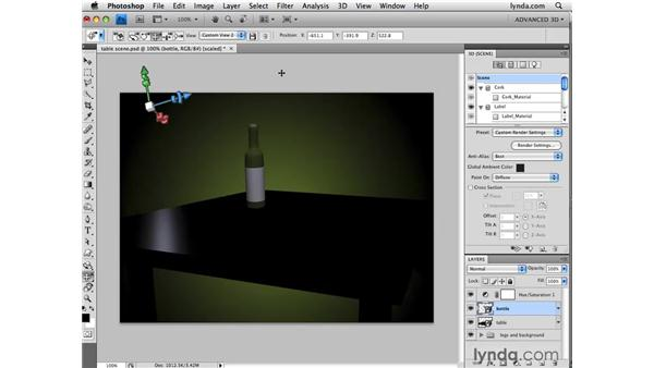 Creating custom camera views: Photoshop CS4 Extended for 3D
