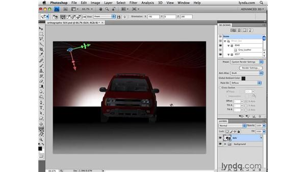 Understanding perspective and orthographic views: Photoshop CS4 Extended for 3D
