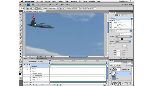 Creating animation: Photoshop CS4 Extended for 3D