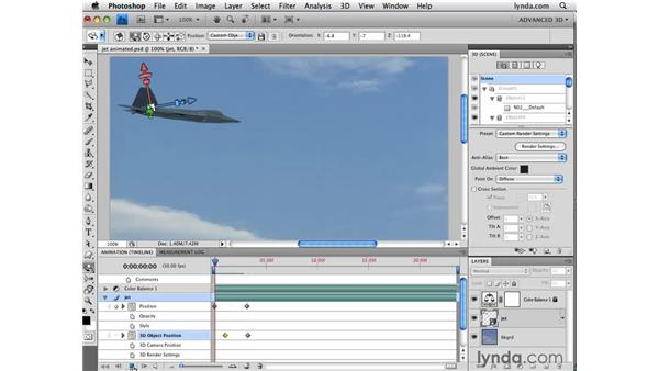 Animating 3D objects and cameras: Photoshop CS4 Extended for 3D