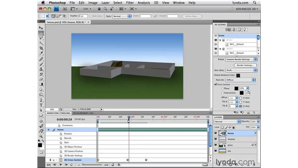 Animating cross sections: Photoshop CS4 Extended for 3D