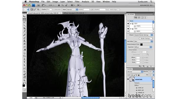 Understanding advanced material options: Photoshop CS4 Extended for 3D