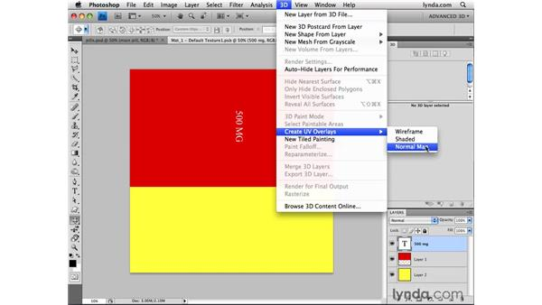 Creating UV overlays: Photoshop CS4 Extended for 3D