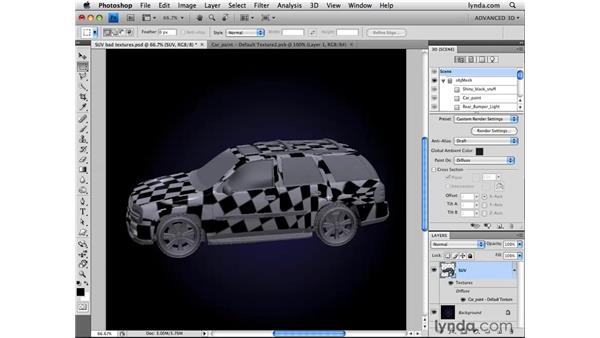 Using the Reparameterize command: Photoshop CS4 Extended for 3D