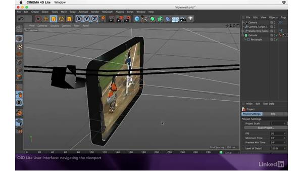 C4D Lite user interface overview: After Effects Apprentice 17: Video Walls in CINEMA 4D Lite