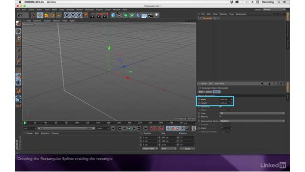 Creating a rectangular spline: After Effects Apprentice 17: Video Walls in CINEMA 4D Lite