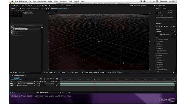 Checking your work: After Effects Apprentice 17: Video Walls in CINEMA 4D Lite