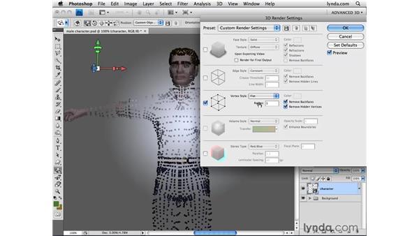 Customizing vertex rendering