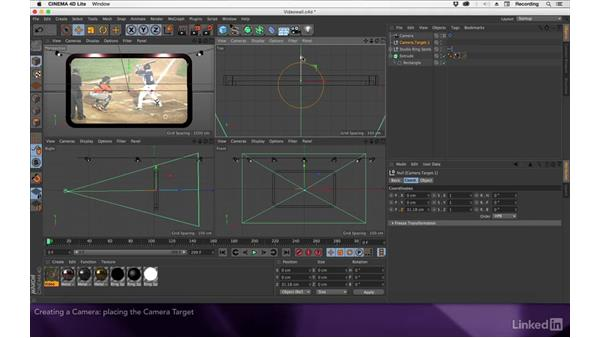 Creating a camera: After Effects Apprentice 17: Video Walls in CINEMA 4D Lite