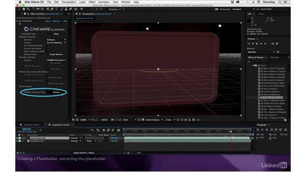 Creating a placeholder: After Effects Apprentice 17: Video Walls in CINEMA 4D Lite