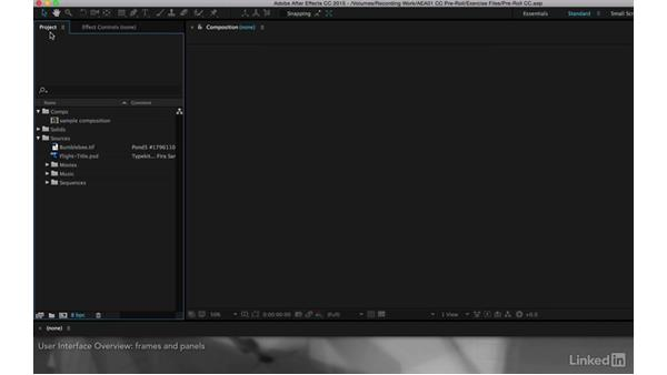 User interface overview: After Effects Apprentice 01: CC Pre-Roll