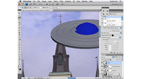 Adding layer masks to 3D objects: Photoshop CS4 Extended for 3D