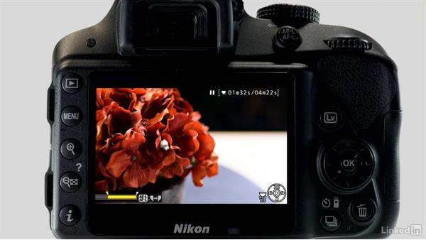 Playing back, editing, and deleting movies: Up and Running with the Nikon D3200 and D3300