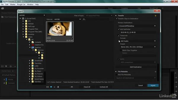 Doing a basic transcoded workflow: Premiere Pro Guru: Transcoding Workflows