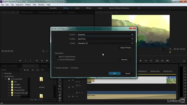 Render and replace: Premiere Pro Guru: Transcoding Workflows