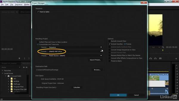 Archiving projects: Premiere Pro Guru: Transcoding Workflows