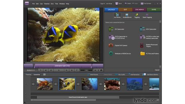 Using the Monitor panel to trim video in the Sceneline: Premiere Elements 7 Essential Training