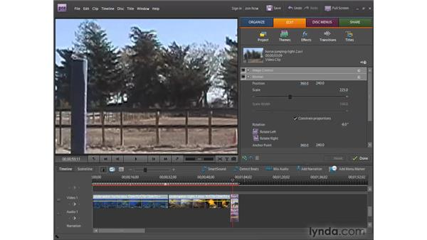 Applying and modifying video effects: Premiere Elements 7 Essential Training