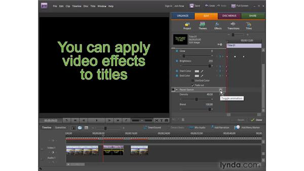 Animating video effects: Premiere Elements 7 Essential Training
